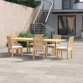 Anthony Logistics For Men Foundstone 7 Piece Teak Dining Set with Cushions Foundstone