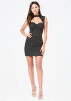 Bebe Alyssa Studded Dress