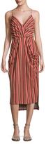 BCBGeneration Stripe High-Low Dress
