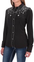 Panhandle Retro Embroidered Western Shirt - Snap Front, Long Sleeve (For Women)