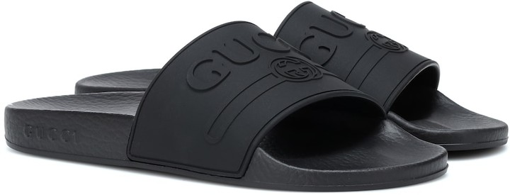 Gucci Logo-embossed slides