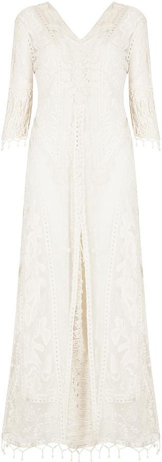 Kate Moss for topshop **crochet lace maxi dress