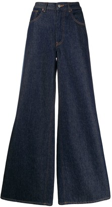 MM6 MAISON MARGIELA Side Tape Wide-Leg Jeans