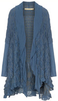 Isolde Roth Plus Size Textured cotton blend cardigan
