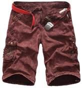 WSLCN Men Cargo Camo Cotton Casual Shorts (NO BELT)