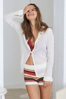 aerie Crinkle Button Top