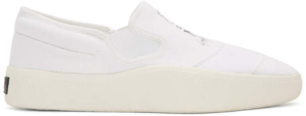 Y-3 White and Black Tangutsu Slip-On Sneakers