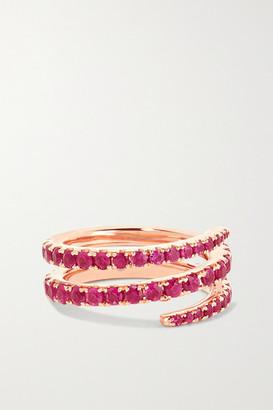 Anita Ko 18-karat Rose Gold Ruby Pinky Ring - 3