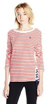 U.S. Polo Assn. Junior's French Terry Striped Pullover