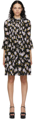 Erdem Black Silk Winford Dress