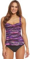 TYR Women's Bellvue Stripe Twisted Bra Tankini Top 8150961