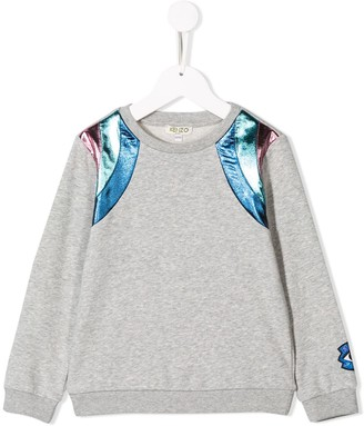 Kenzo Metallic Panel Sweatshirt
