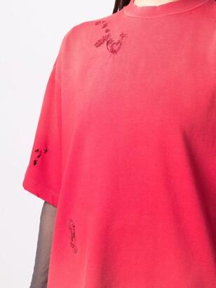 Acne Studios tonal stitching details T-shirt
