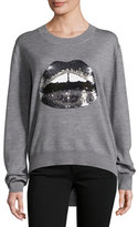 Markus Lupfer Lara Lip Tonal Sequined Joey Jumper, Gray