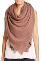 Bajra Felted Wool Net-Weave Square Scarf