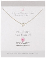 Dogeared Sterling Silver Choose Happy Mini Star Necklace