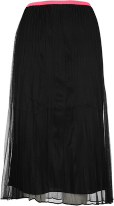 Helmut Lang Sheer Plated Skirt
