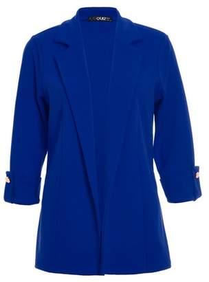 Dorothy Perkins Womens *Quiz Royal Blue 3/4 Sleeve Blazer, Royal Blue