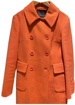 Ermanno Scervino Orange Wool Coat for Women