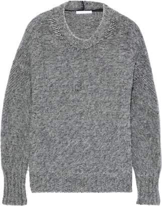 Helmut Lang Melange Brushed Knitted Sweater