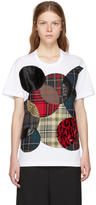 Junya Watanabe White Patchwork Circles T-Shirt