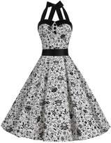 Dressystar Vintage Polka Dot Retro Cocktail Prom Dresses 50's 60's Rockabilly Bandage XS