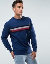 Tommy Hilfiger Lake Sweatshirt Icon Stripe Embroidery In Blue