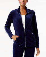 Karen Scott Mock-Neck Jacket, Created for Macy's