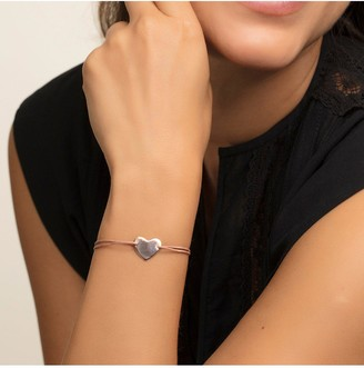 Thomas Sabo Little Secrets 18k Rose Gold Plated Sterling Silver Heart Pink Adjustable Bracelet