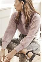 Dynamite Funnel Neck Sweater Sea Fog Mauve