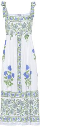Juliet Dunn Floral cotton midi dress