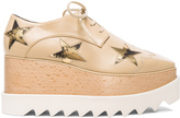 Stella McCartney Elyse Faux Leather Star Platform Wedges