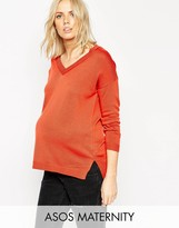 Asos Sweater With V Neck