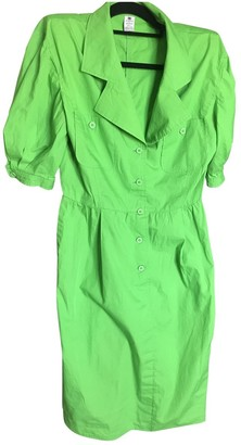 Ungaro Green Cotton Dresses