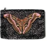 Arlette Ess Giant Silk Moth Velvet Clutch Bag Samia Cynthia
