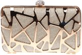 Ainemay Glitzy Abstract Rhinestone Clasp Box Evening Clutch Bag