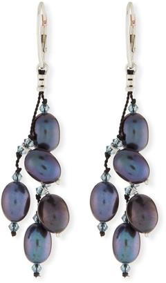 Margo Morrison Five-Pearl Drop Earrings