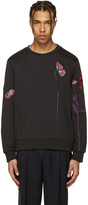 Paul Smith Black Flowers and Stems Pullover