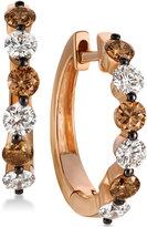 LeVian Le Vian Chocolatier® Diamond Hoop Earrings (1-1/10 ct. t.w.) in 14k Rose Gold