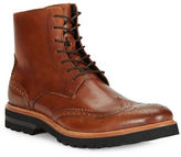Kenneth Cole New York Click Sound Wingtip Leather Ankle Boots