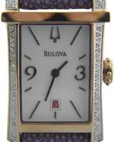 Bulova 98R197 Stainless Steel & Diamond Bezel Quartz 20.30mm Women's Watch