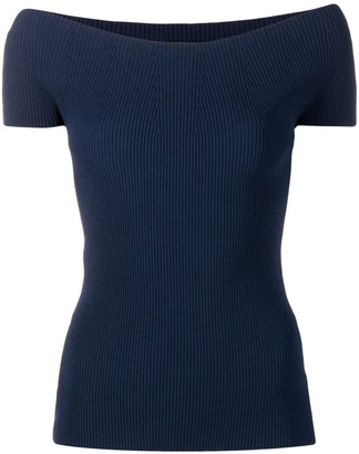 Theory Cold-Shoulder Knitted Top