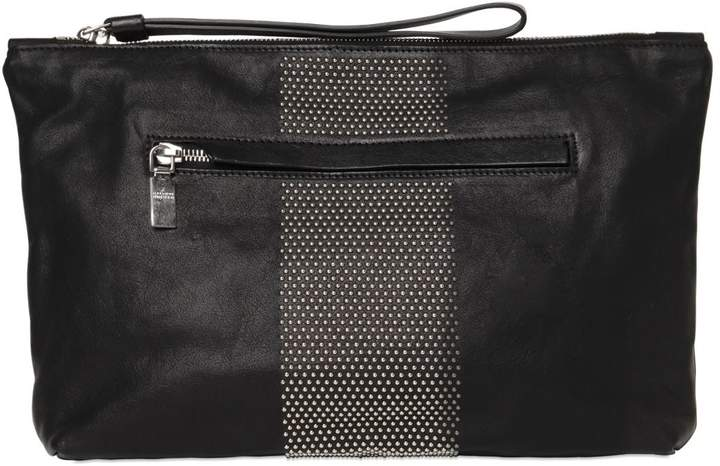 Alexander McQueen Micro Studded Leather Pouch