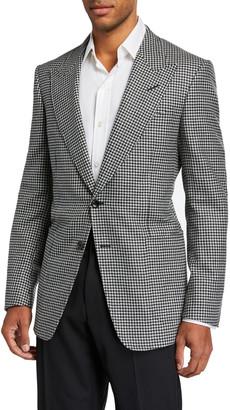 Tom Ford Men's Flannel Pied de Poule Two-Button Jacket
