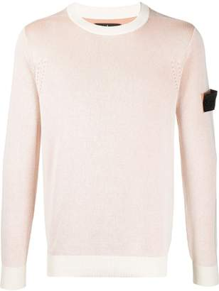 Stone Island Shadow Project two-tone ribbed knit jumper