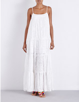 Seafolly X-Stitched tiered cotton-blend maxi dress