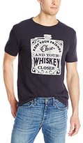 Lucky Brand Men's Whiskey Flask Graphic Tee