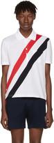 Thom Browne White Stripes Pocket Polo