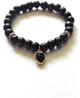 Bijouterie Jewelry Bijouterie Black Wood Heart Bracelet