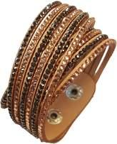 Luna Crystal Slake Bracelet with Beautiful Elements - Multi Tan 2